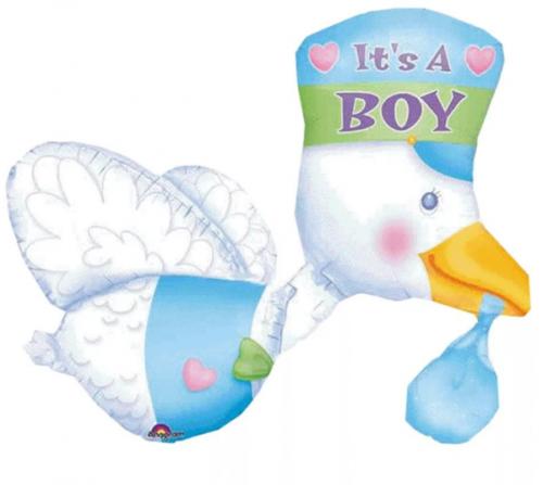 Фольгированный шар«Аист это мальчик»