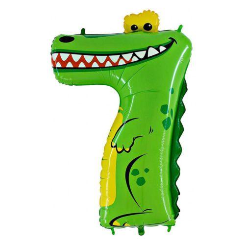 Фольгированная цифра 7 «Крокодил»