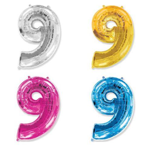 Фольгированный шар «Цифра  9»