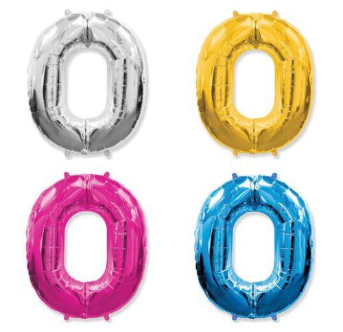Фольгированный шар «Цифра 0»