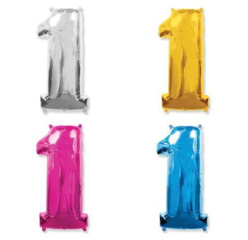 Фольгированный шар «Цифра 1»