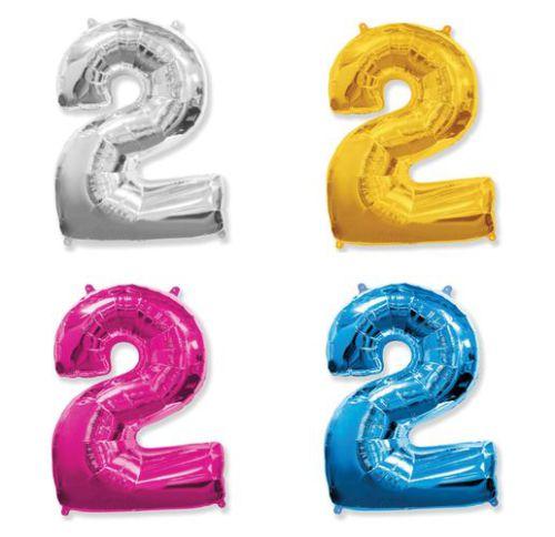 Фольгированный шар «Цифра 2»