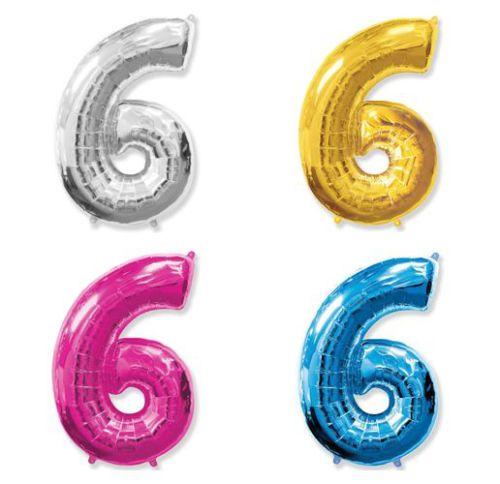 Фольгированный шар «Цифра 6»