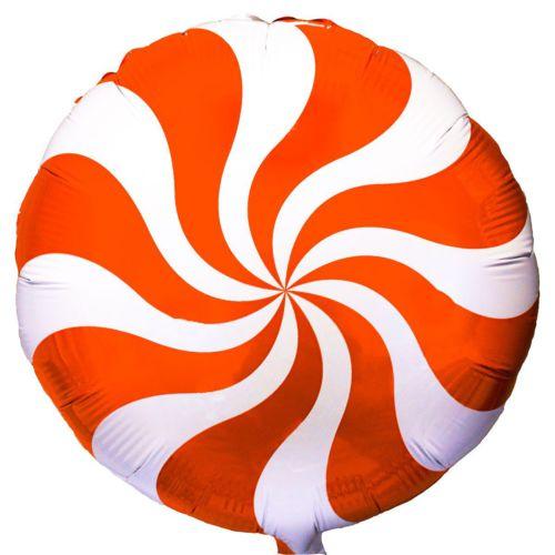 Фольгированный круг «Карамелька оранжевая»