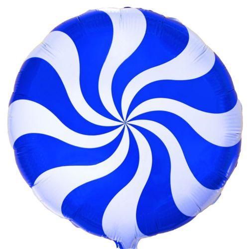 Фольгированный круг «Карамелька синяя»