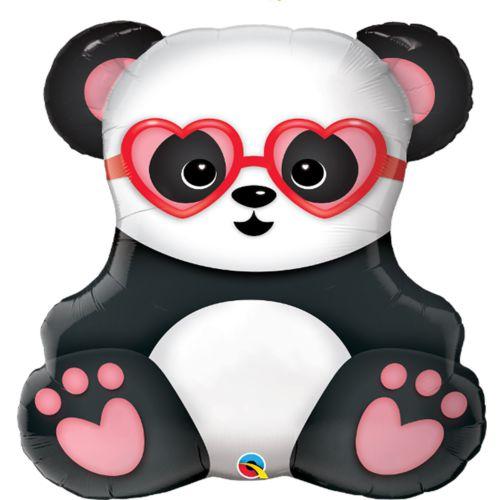 Фольгированный шар «Влюблённая панда»