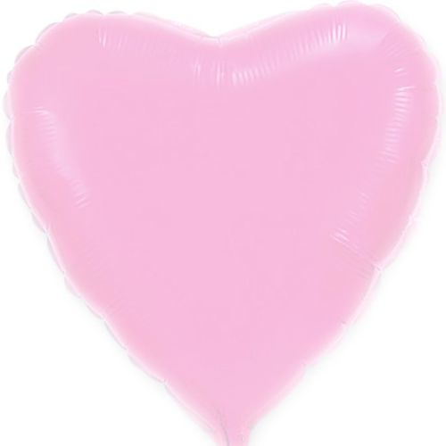 Фольгированное сердце «розовое»