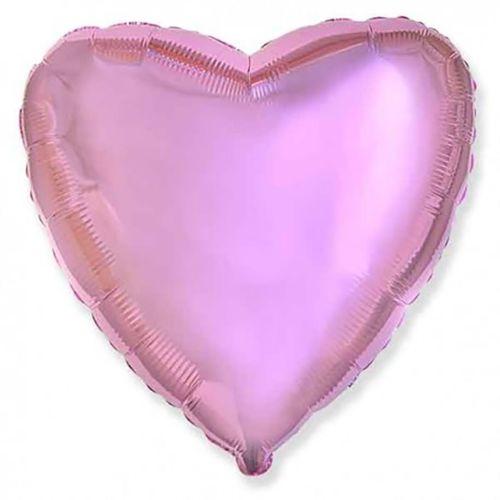 Фольгированное сердце «розовый металлик»