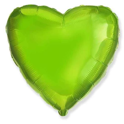 Фольгированное сердце «салатовое»