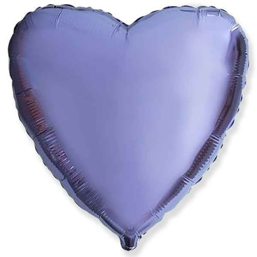 Фольгированное сердце «сиреневое»