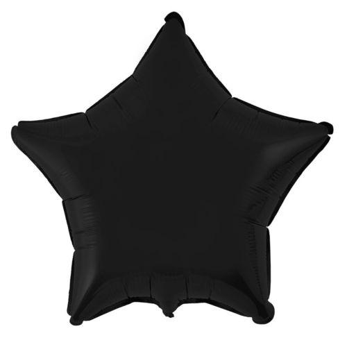 Фольгированная звезда «черная»