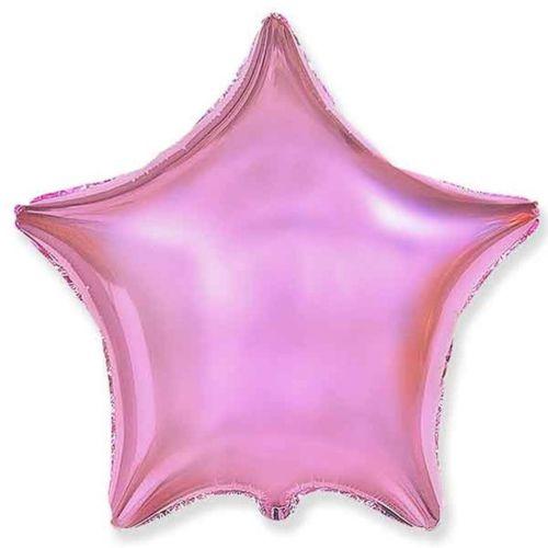 Фольгированная звезда «розовый металлик»