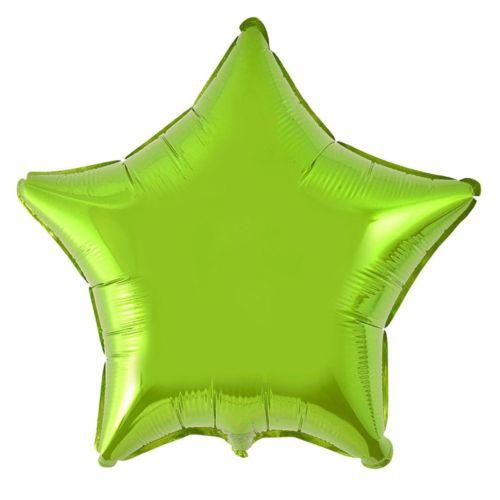 Фольгированная звезда «салатовая»
