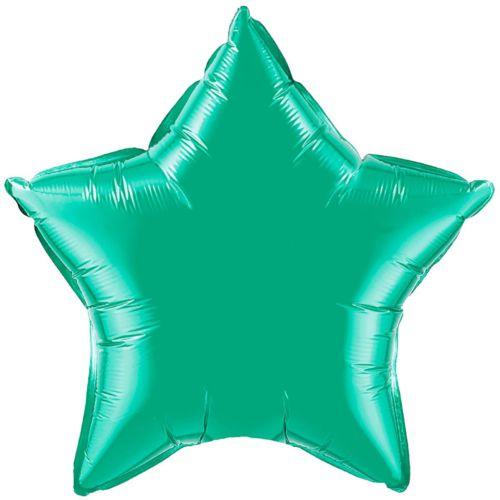 Фольгированная звезда «бирюзовая»
