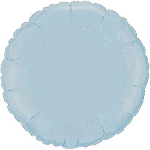 Фольгированный круг «голубой»