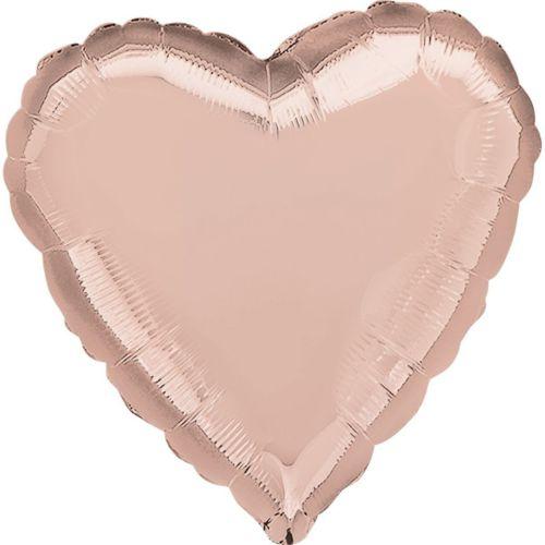 Фольгированное сердце «розовое золото»