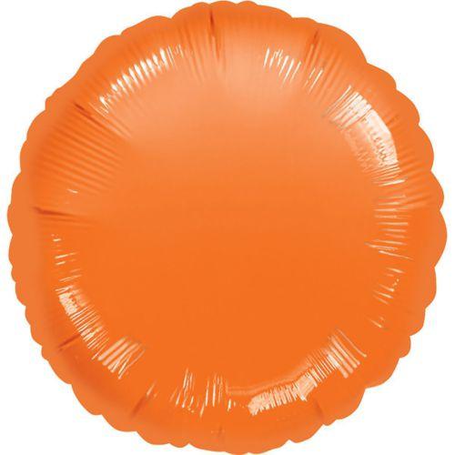 Фольгированный круг «оранжевый»