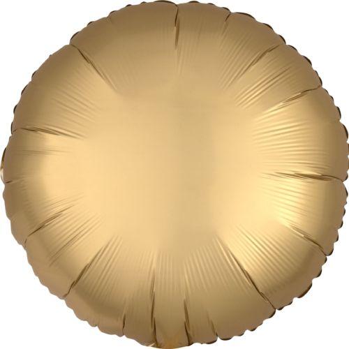 Фольгированный круг «золото сатин»