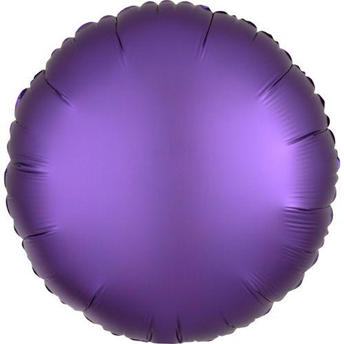 Фольгированный круг «фиолетовый сатин»