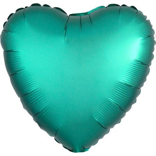 Фольгированное сердце «бирюзовый сатин»