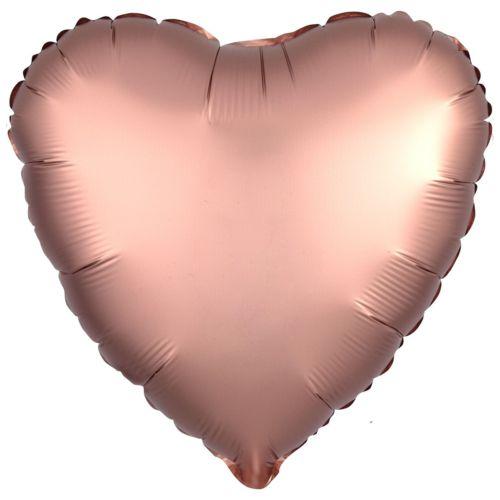 Фольгированное сердце «розовый сатин»