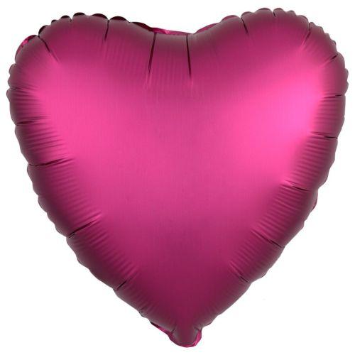 Фольгированное сердце «марсала сатин»