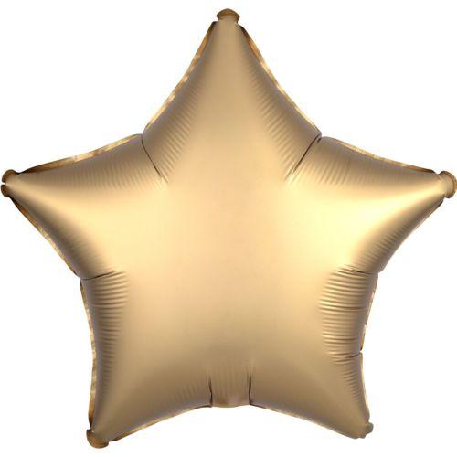 Фольгированная звезда «золото сатин»