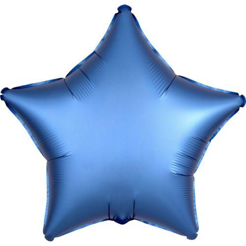 Фольгированная звезда «голубый сатин»