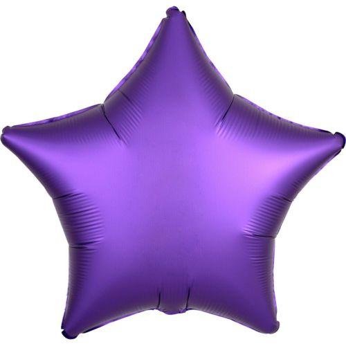 Фольгированная звезда «фиолетовый сатин»