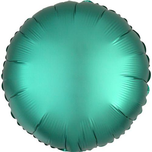 Фольгированный круг «бирюзовый сатин»
