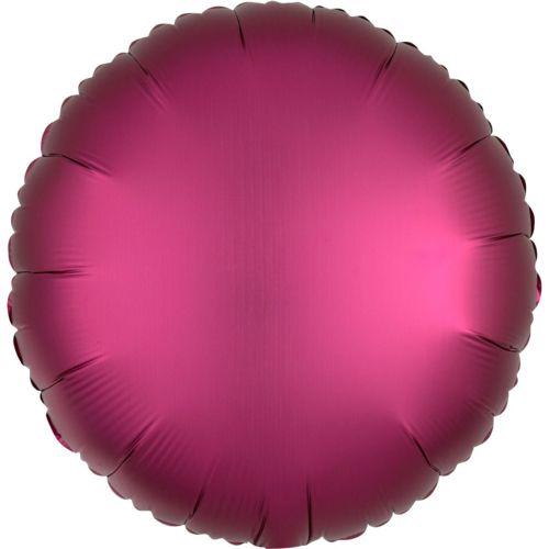 Фольгированный круг «марсала сатин»