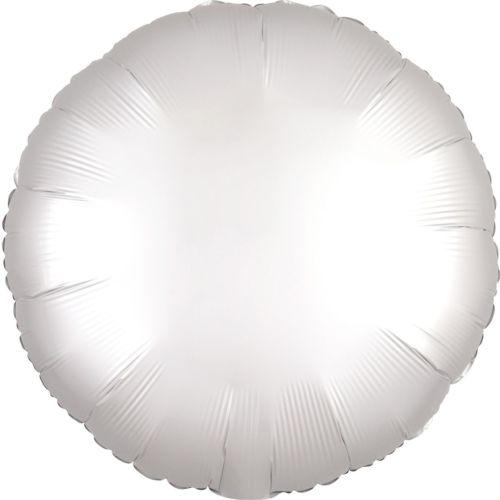 Фольгированный круг «белый сатин»