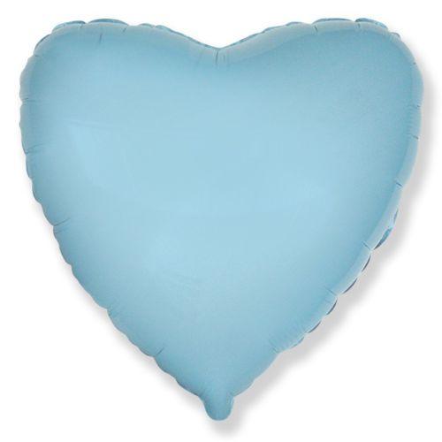 Фольгированное сердце «голубое»