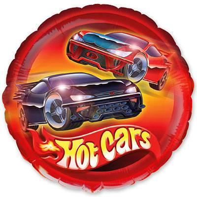 Фольгированный круг «Машины»