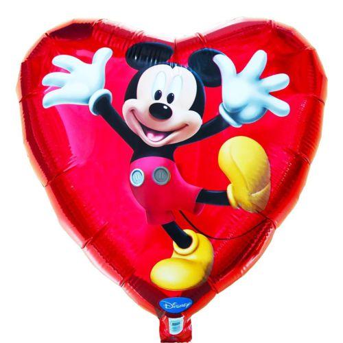 Фольгированное сердце «Микки маус»