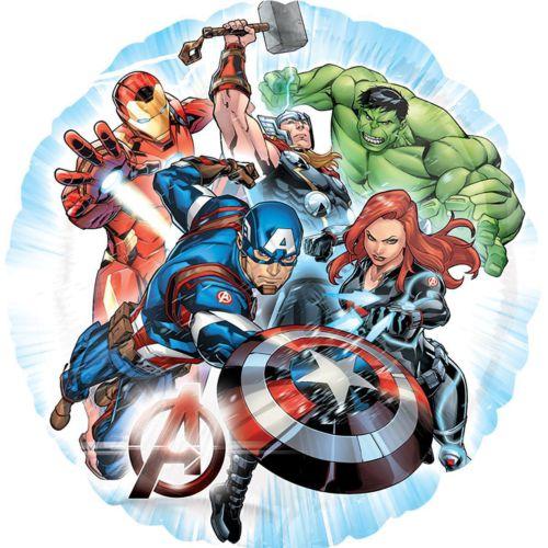 Фольгированный круг «Мстители»