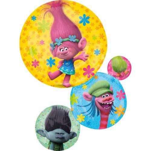Фольгированный шар «Тролли друзья»